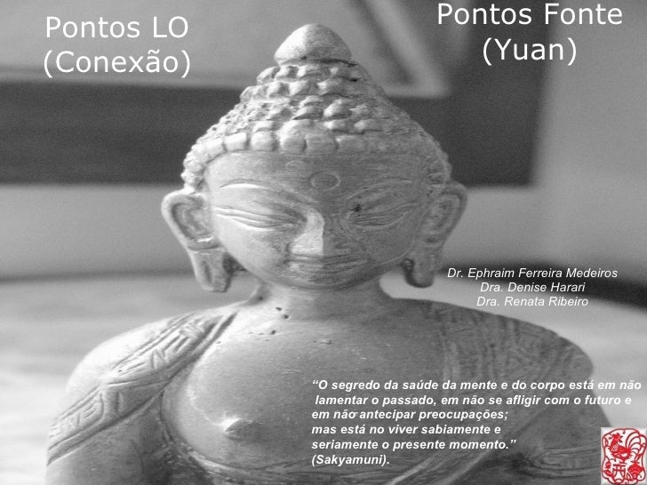 """Pontos Fonte (Yuan) Dr. Ephraim Ferreira Medeiros Dra. Denise Harari Dra. Renata Ribeiro """" O segredo da saúde da mente e d..."""
