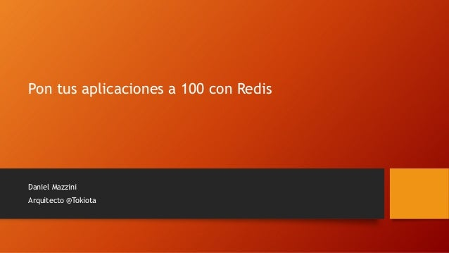 Pon tus aplicaciones a 100 con redis