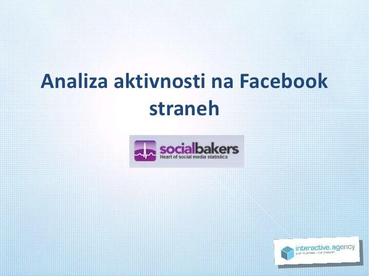 Analiza aktivnosti na Facebook straneh