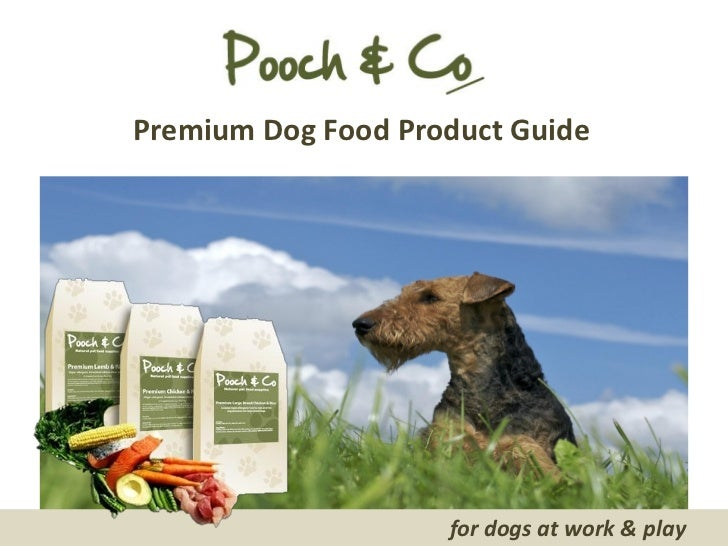 Premium Dog Food Product Guide                    for dogs at work & play