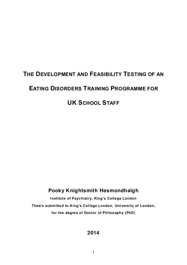 Phd thesis in development