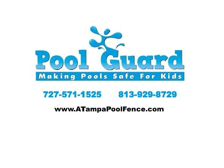 Pool guard safety fence