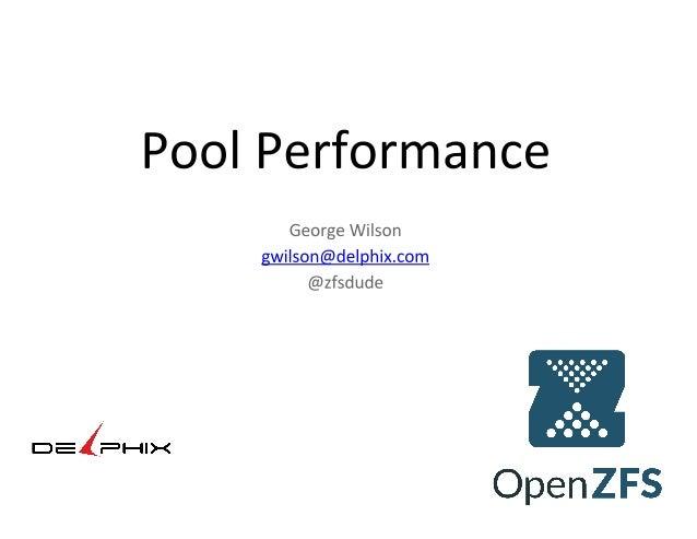 Pool performance