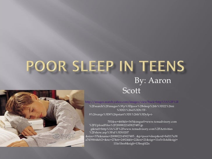 Poor Sleep In Teens