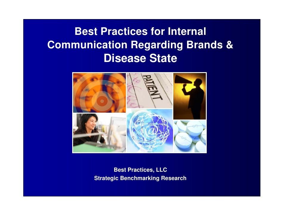 Best Practices for InternalCommunication Regarding Brands &           Disease State               Best Practices, LLC     ...