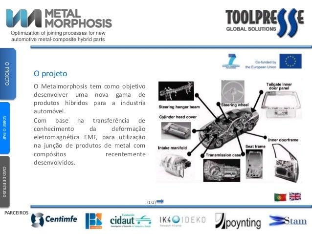 Optimization of joining processes for new  automotive metal-composite hybrid parts  O projeto  O Metalmorphosis tem como o...