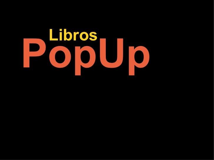 PopUp Libros