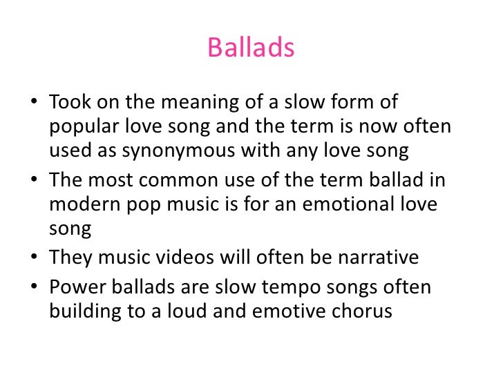 Image result for Ballad