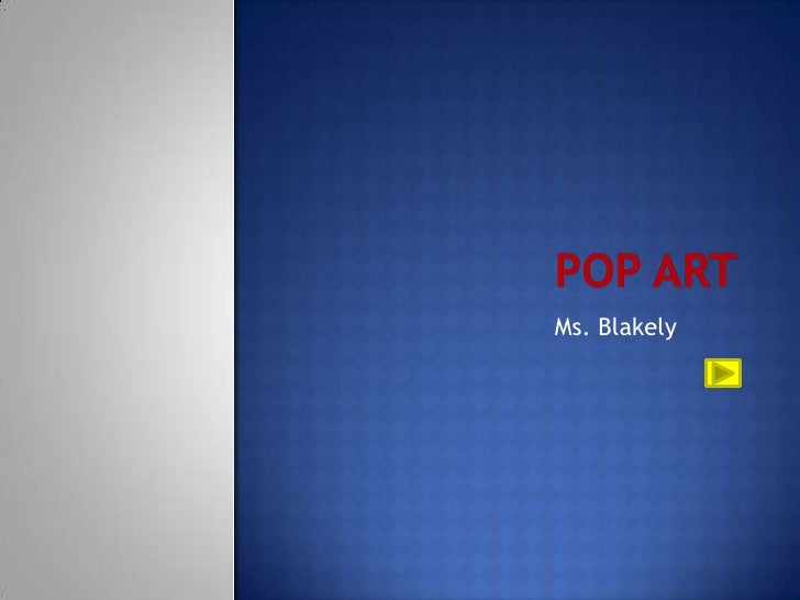 Pop artistsblakely2