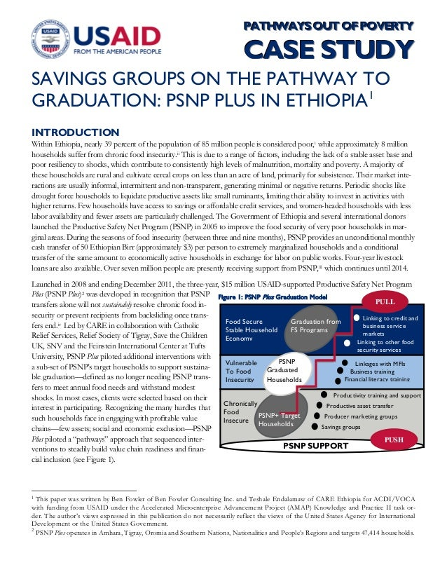 Saving groups on the path way to graduation ...