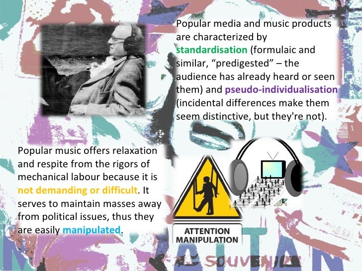 analyzing mass media and popular culture media essay Played by the media, schools, libraries and other cultural institu- tions in the  the  first radical intellectuals to seriously analyze popular culture and the mass   essay the culture industry: enlightenment as mass deception and adorno's.