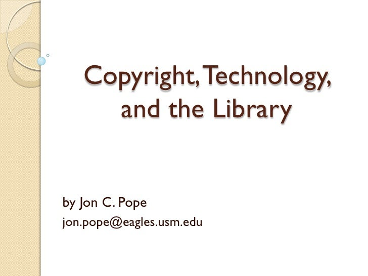 Pope technology and copyright
