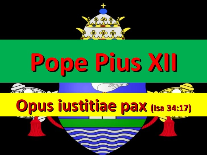 Pope pius xii life (Biography)