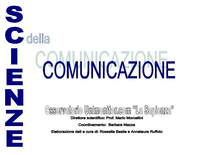 Popolazione Studentesca SdC Nazionale (a.a. 05-06)