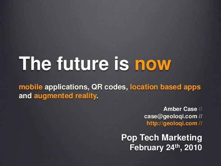 The Future is Now - PopTech Marketing Event March 8th