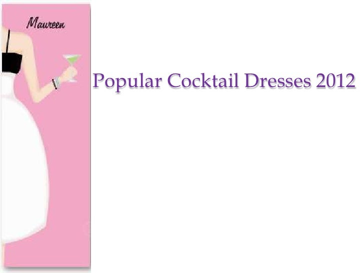 Popular cocktial dress 2012