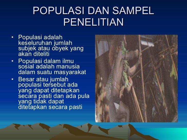 Populasi dan sampel penelitian