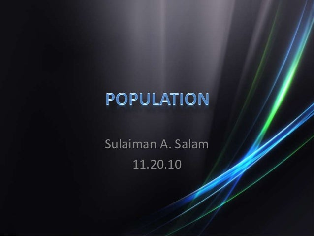 Sulaiman A. Salam 11.20.10