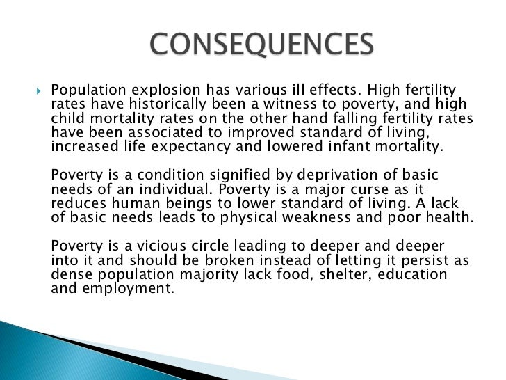 essay on effects of population explosion