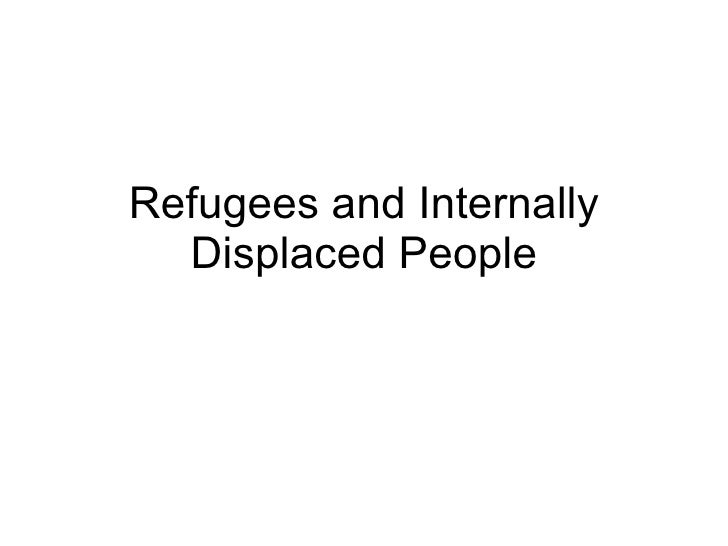 Population 8 - Refugees And Internally Displace People