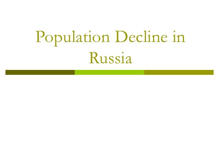 Population Decline in Russia