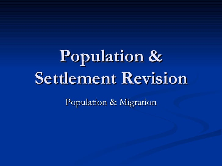 HHS Population Revision MrJ 2008