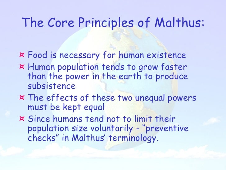 Malthus essay on population summary