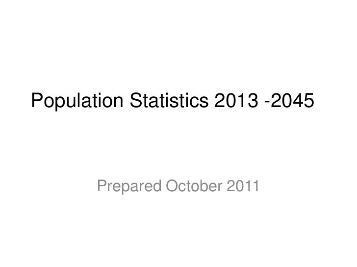 Population data to 2045