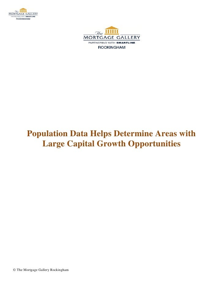 Population Data Helps Determine Areas with Large Capital Growth Opportunities
