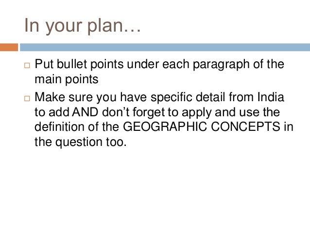 Bullet points essay?