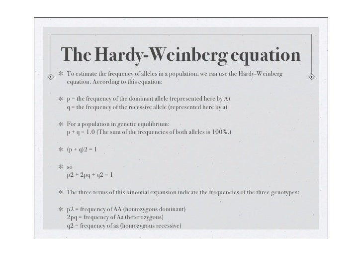 Allele Hardy Weinberg Equation Related Keywords Suggestions