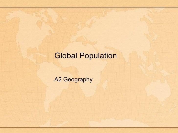 Population Global Population