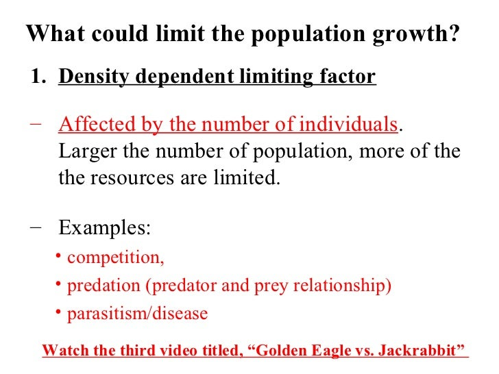 Pics For > Density Dependent Limiting Factors