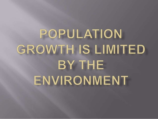 Exponential growth Carrying capacity Logistic growth model