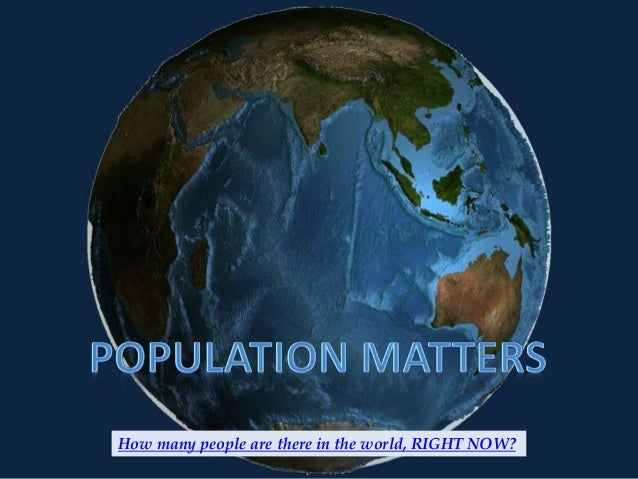 How many people are there in the world, RIGHT NOW?