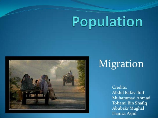 Population: Migration in Pakistan