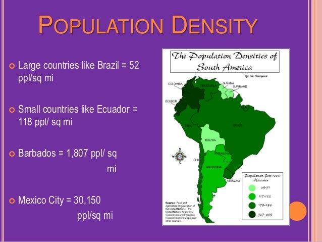 Population Patterns Of Latin America 9 1