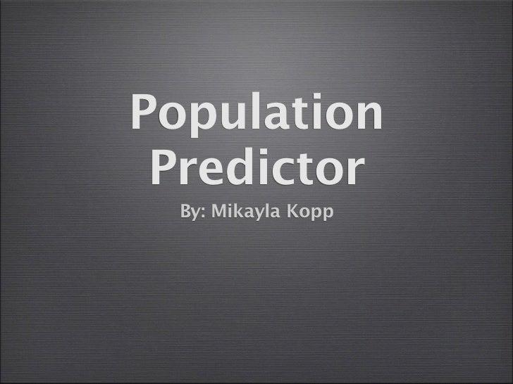Population predictor