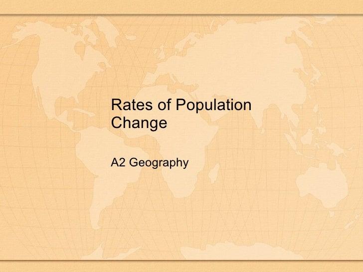 Population Rates Of Population Change