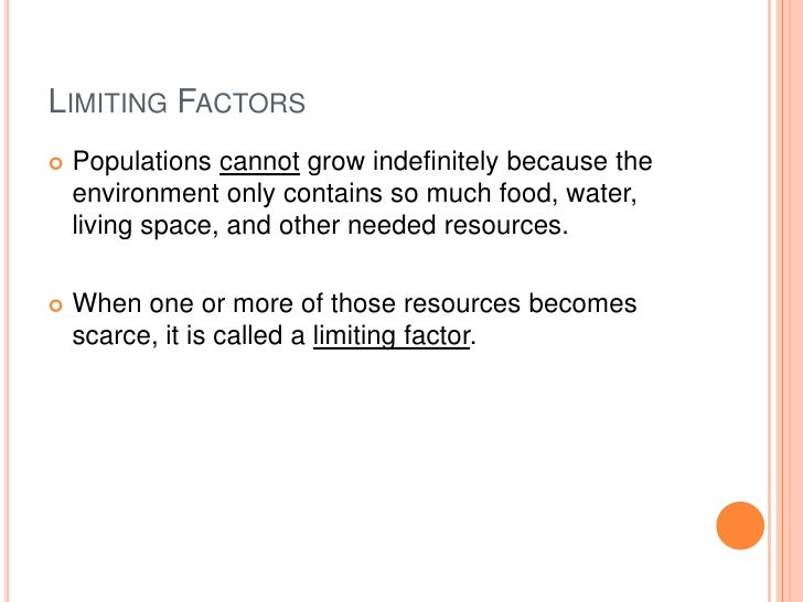 Limiting Factors Examples Ecosystems