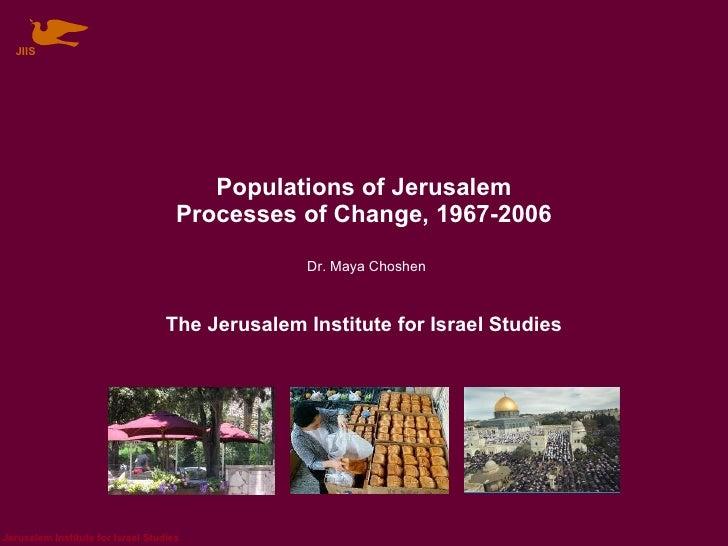 Populations Of Jerusalem