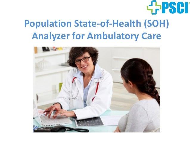 PopulationState‐of‐Health(SOH) AnalyzerforAmbulatoryCare