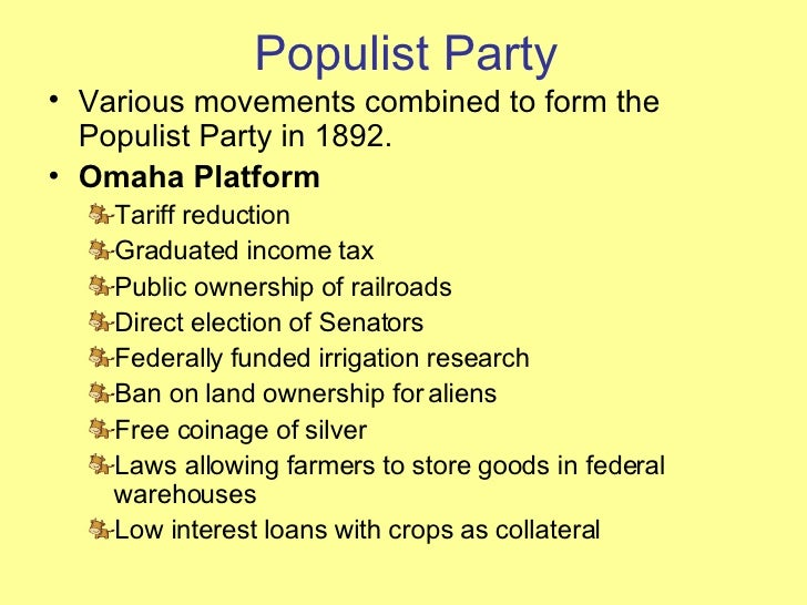the populist movements formation essay
