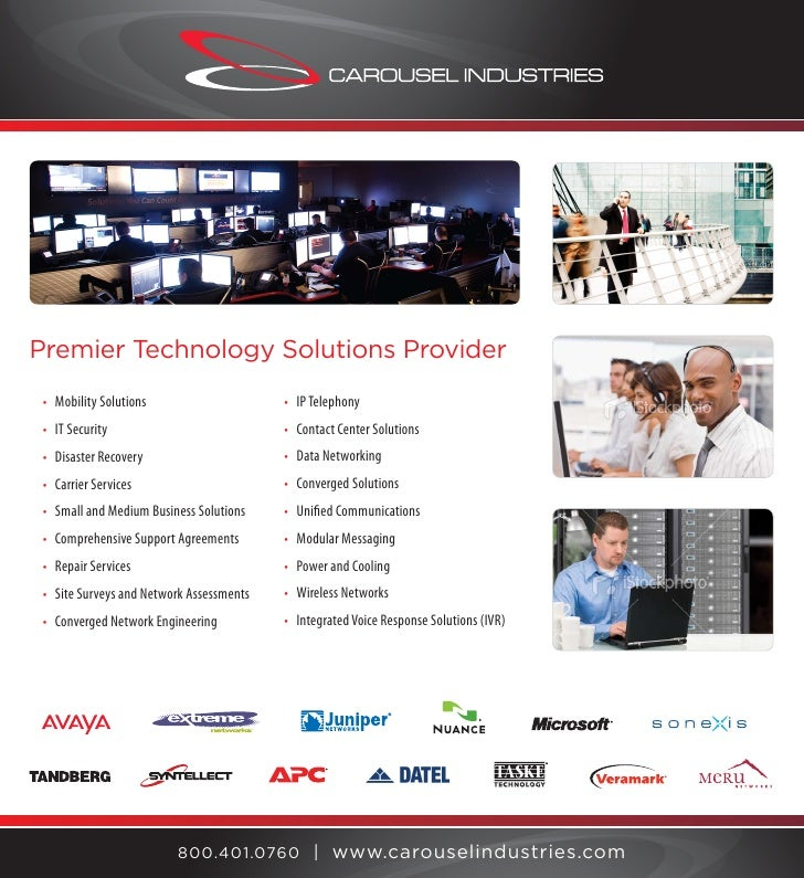 Premier Technology Solutions Provider                                           • IP Telephony  • Mobility Solutions      ...