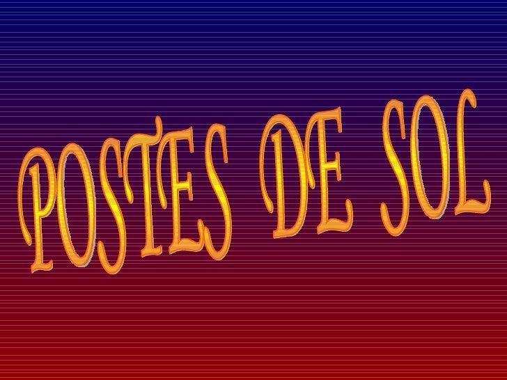 POSTES  DE  SOL