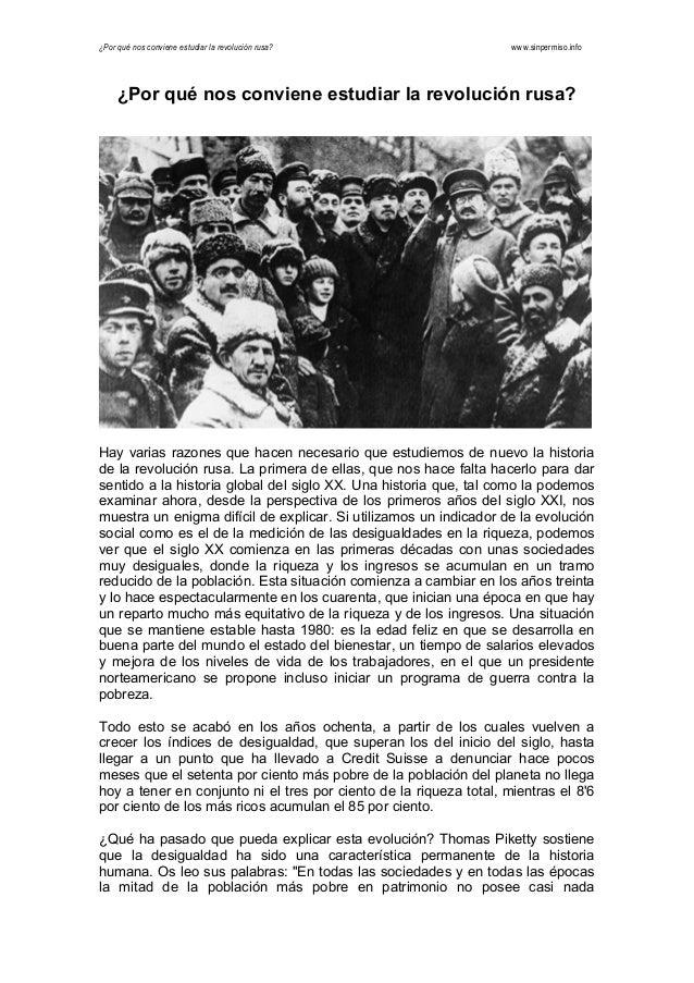¿Por qué nos conviene estudiar la revolución rusa? www.sinpermiso.info    ¿Por qué nos conviene estudiar la revolución r...