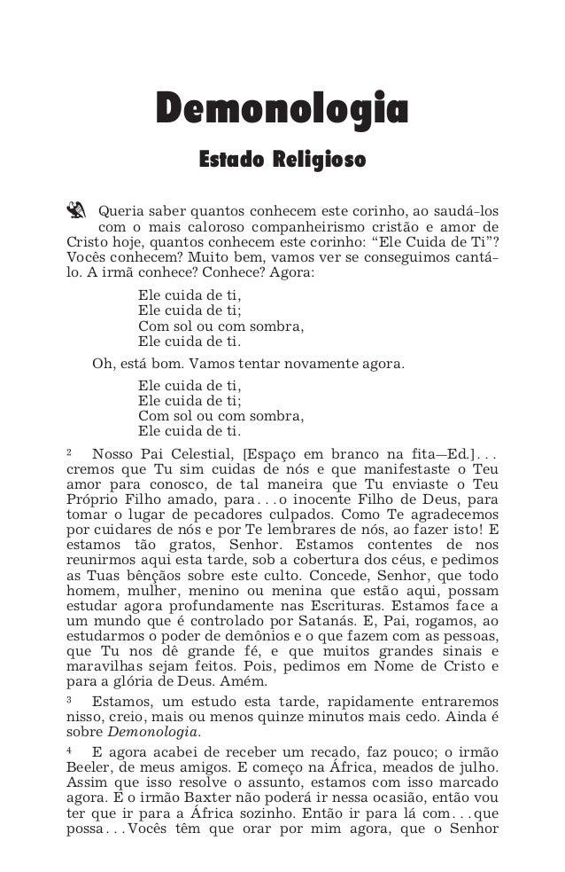DEMONOLOGIA - ESTADO RELIGIOSO 23 Demonologia Estado Religioso ` Queria saber quantos conhecem este corinho, ao saudá-los ...