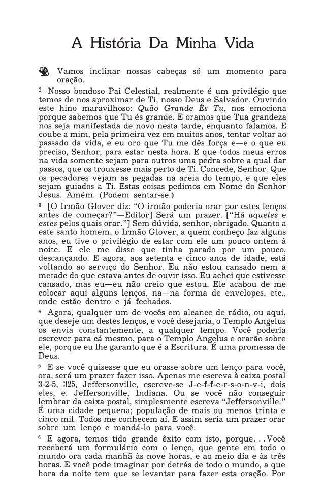 TESTING THE TEMPLATE 1 IRMÃO WILLIAM MARRION BRANHAM A História da MinhaVida foi pregada no domingo à tarde, 19 de abril d...