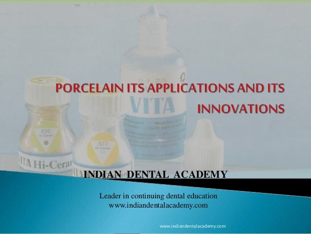 Porcelain and its applications