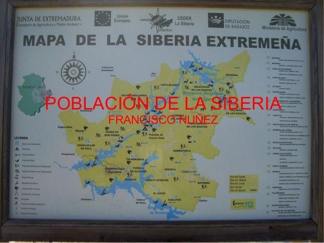 POBLACIÓN DE LA SIBERIA      FRANCISCO NUÑEZ